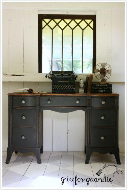 Desk painted in Little Billy Goat\'s Old Pickup | SK Sartell | Pinterest