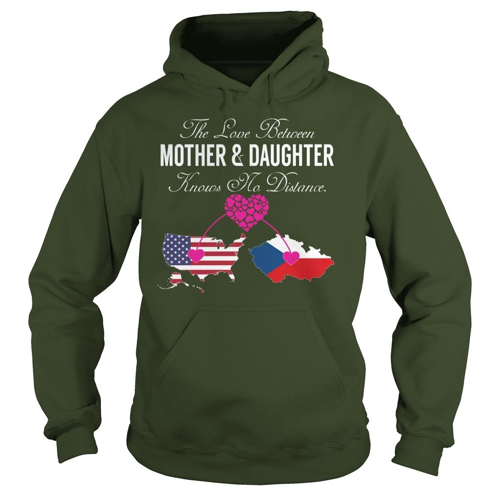 (New Tshirt Design) Mother Daughter United States Czech Republic at Sunday Tshirt Hoodies, Funny Tee Shirts