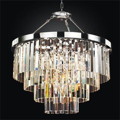 glow lighting chandeliers. Glow Lighting Timeless 6 Light Crystal Chandelier Chandeliers I