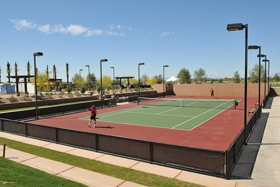 Two of these courts are used exclusively for pickleball