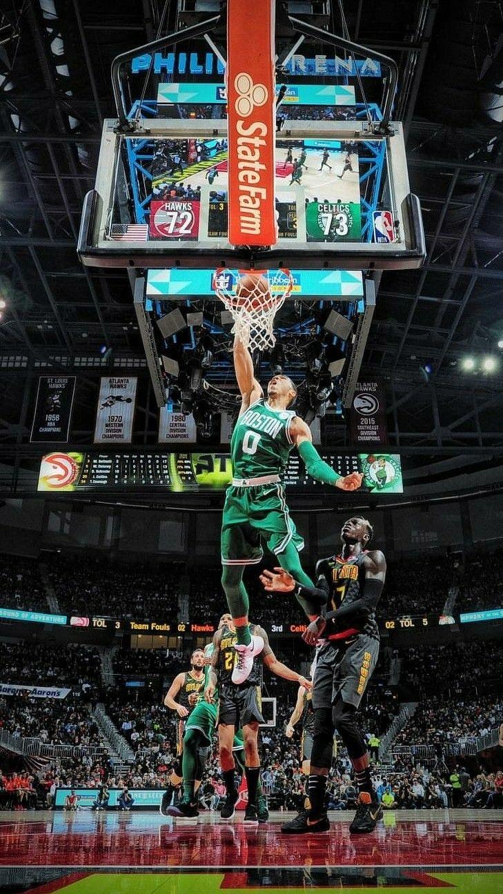Jayson Tatum Dunk Wallpaper Jayson Nba Jayson Tatum Basketball