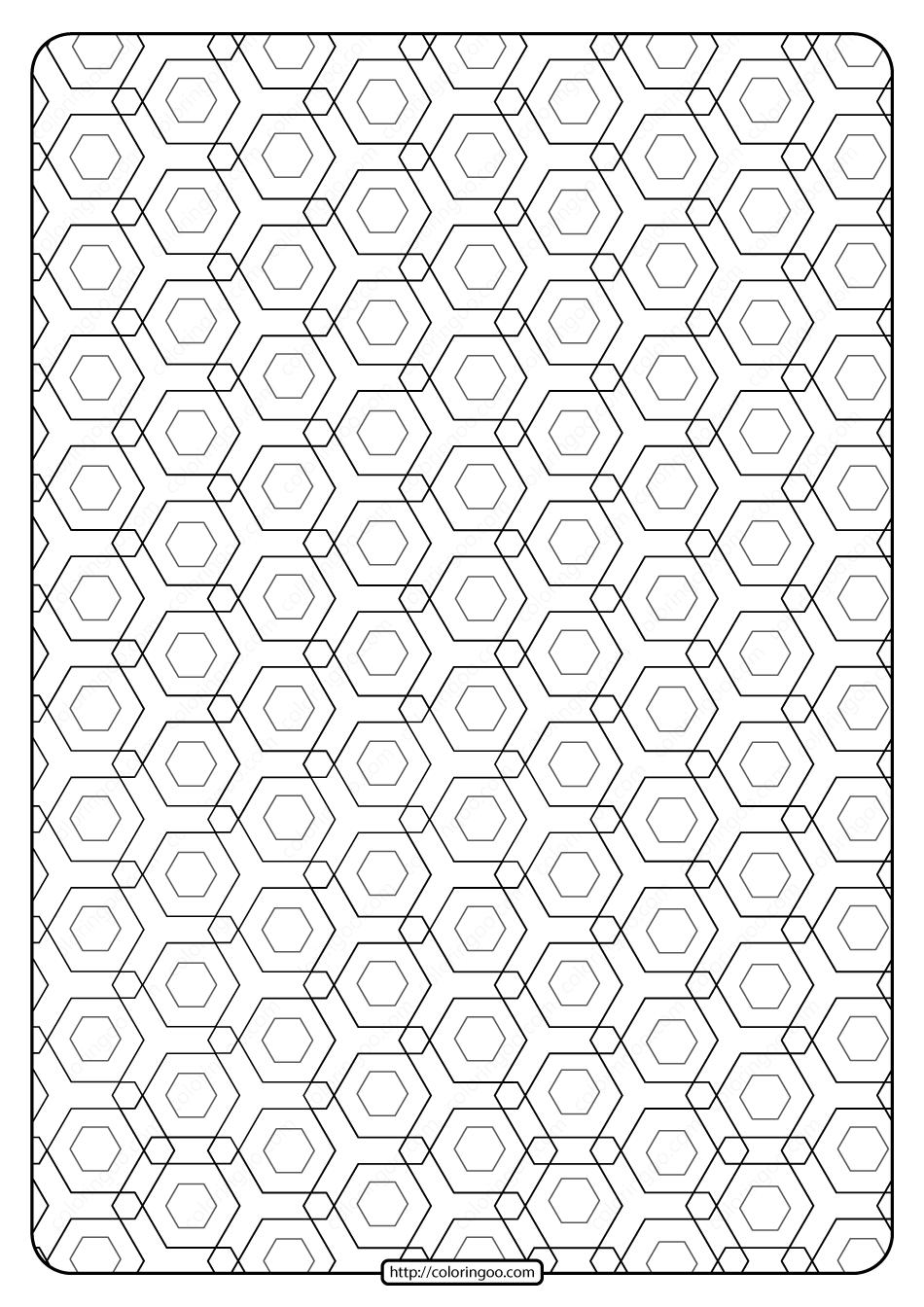 Free Printable Geometric Pattern Pdf Book 010 In 2020 Geometric