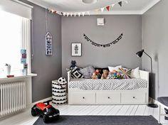 Grey Kidu0027s Room, With Ikea Hemnes Bed | The Boo And The Boy Nice Look