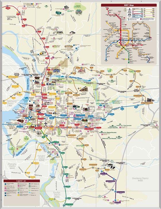 Large map of Taipei 1 | Taipei city. Taipei travel. Taipei