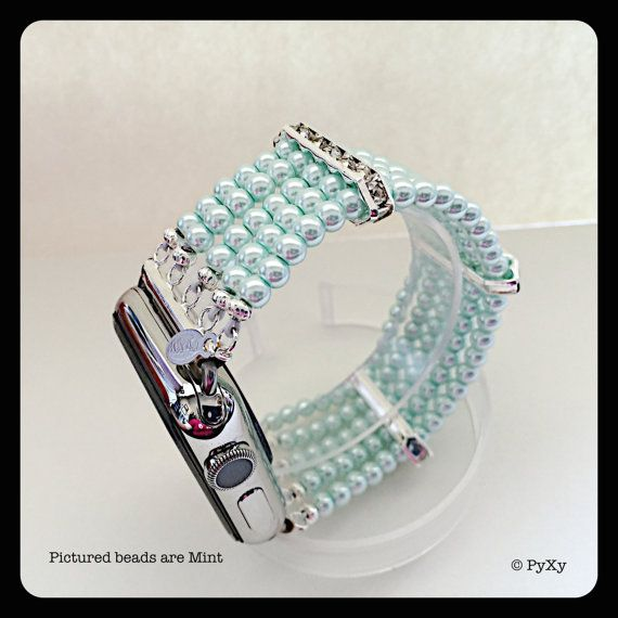 Pyxy Beaded Apple Watch Band By Pyxy On Etsy Iphone Watch Bands