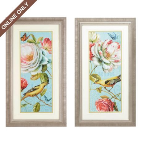 Exotic Flowers Framed Art Print, Set of 2 | Kirkland's