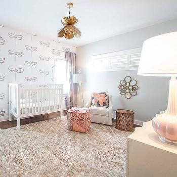 Pink and gray nursery with gold lotus flower chandelier bedrooms pink and gray nursery with gold lotus flower chandelier bedrooms pinterest gold girl flower chandelier and nursery design aloadofball Images