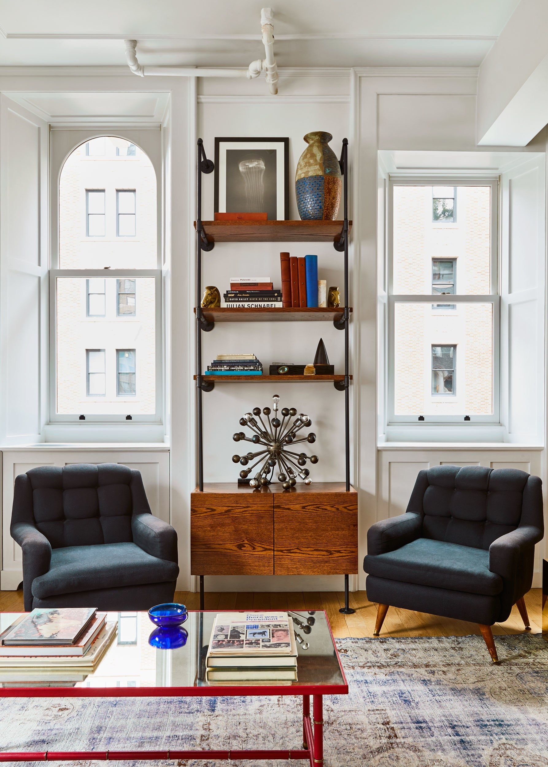 Who Wouldn't Want to Grow Up in This Eclectic New York Apartment  is part of Eclectic Living Room Teal - It all started with a kitchen made for hanging out