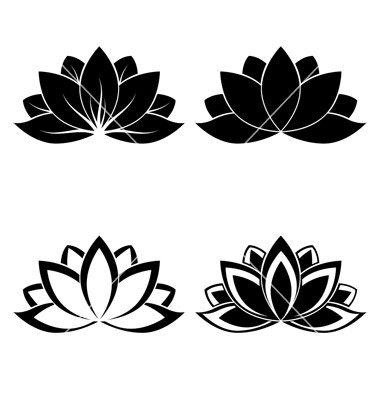 Lotus Silhouette Vector Tattoo Ideas Lotus Flower Tattoo Wrist