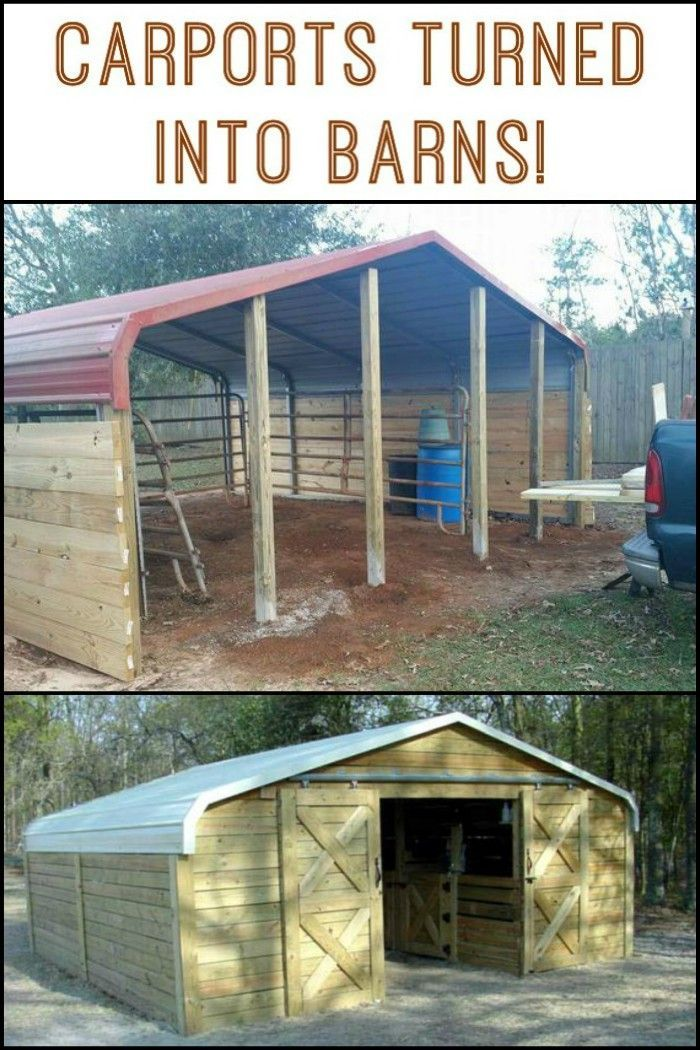 Turn A Carport Into A Barn Horse Stalls Establos