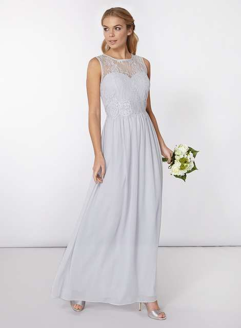 cbc883d5c5a   Showcase Grey  Grace  Maxi Dress - Dorothy Perkins
