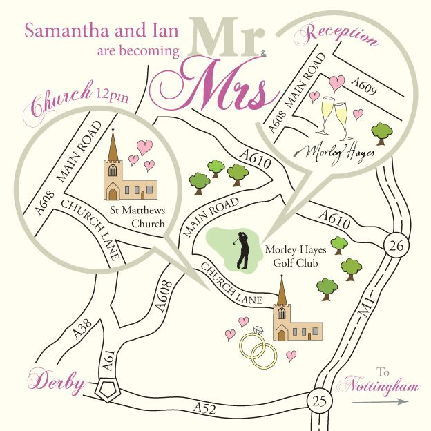 Wedding Invitations With Maps: Draw Map For Wedding Invitation