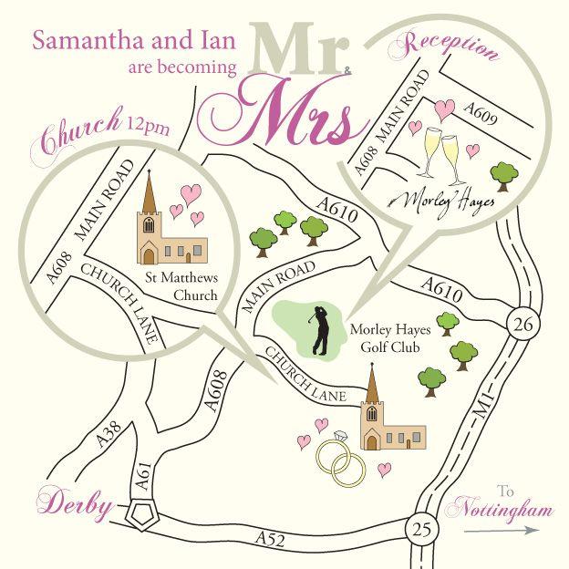 Draw Map For Wedding Invitation