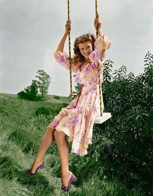 Rita Hayworth. Swinging.