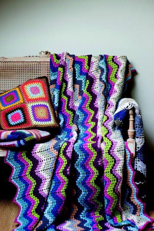 Hekle pledd og puter av Kristel Salgarollo (Innbundet) - Håndarbeid | Hobbyklubben - Kreativitet i hverdagen!