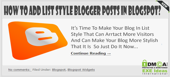 How To Add List Style Blogger Posts In Blogspot? How To