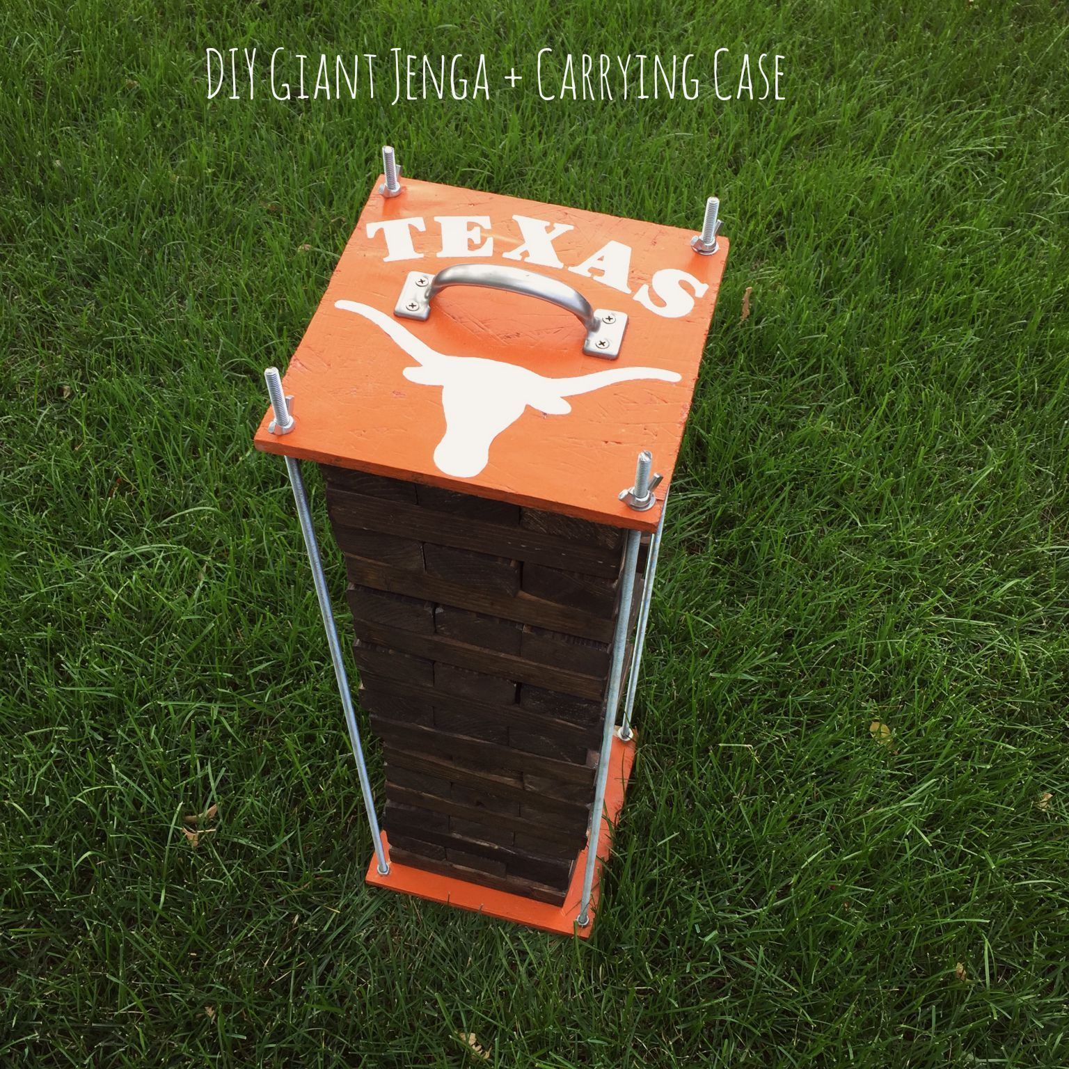 Texas Giant Jenga and carrying Case Boo Pinterest