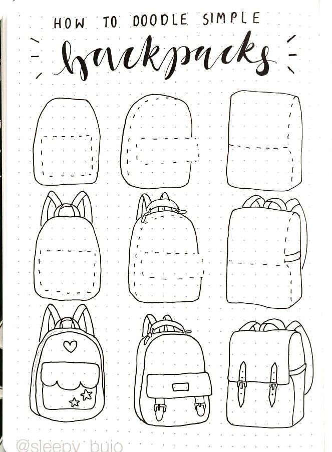 Photo of HOW TO DRAW A BACKPACK