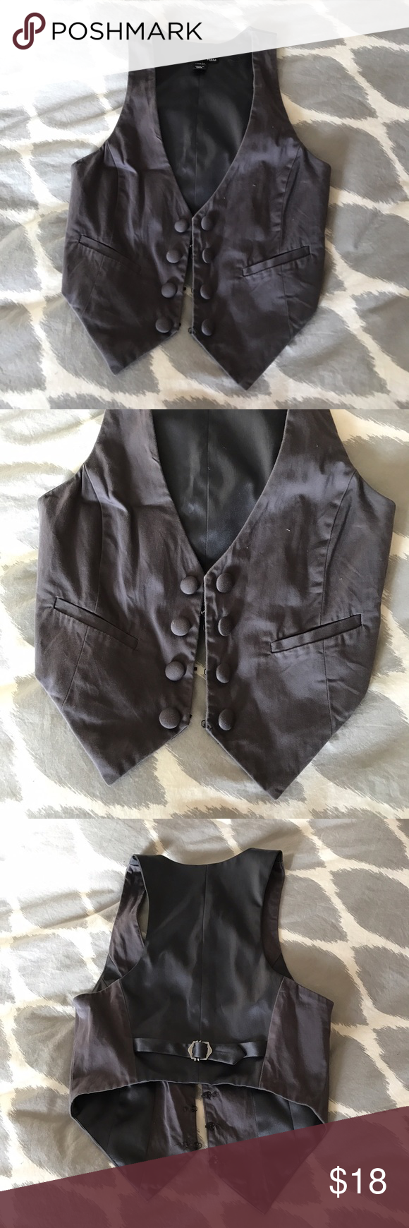 H&M Gray Vest, Size 4, Small Worn a few times, in excellent condition. H&M Tops