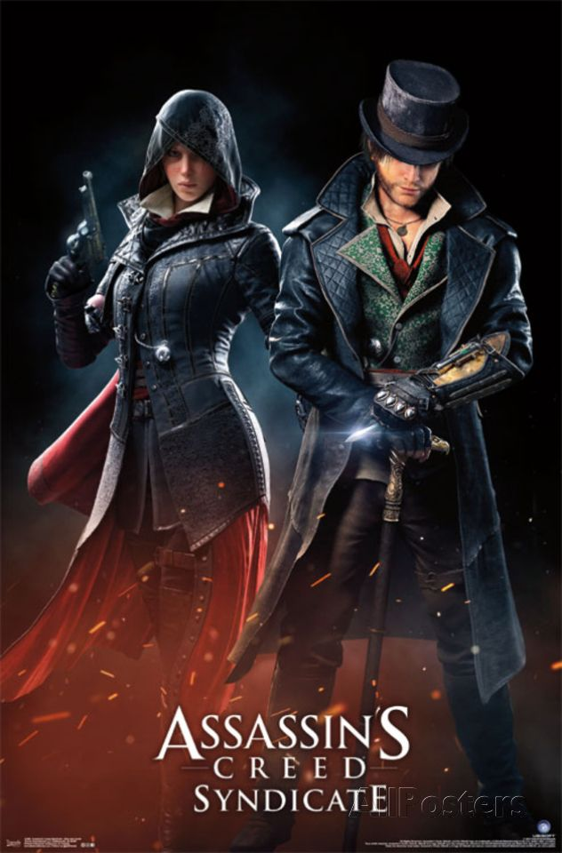Assassins Creed Syndicate Evie And Jacob Posters Video Juego Videojuegos Comics