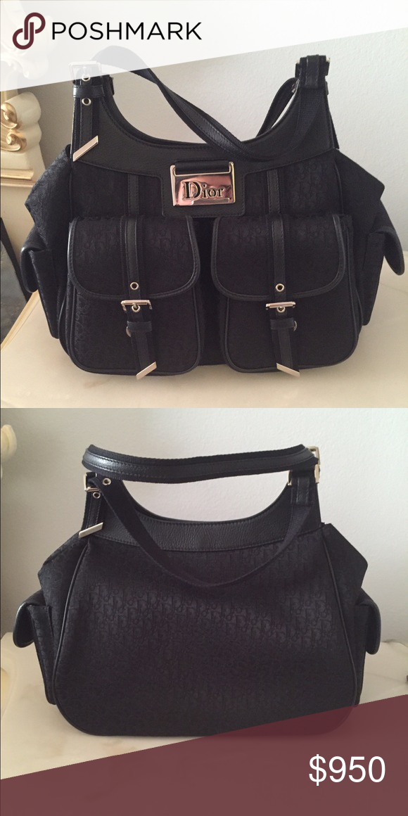 Dior Handbag 2 Front Pockets Side