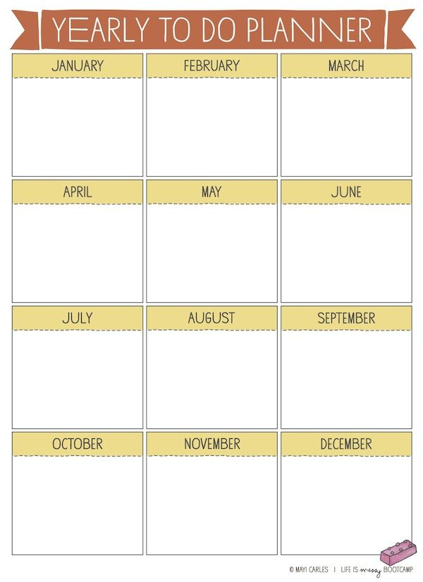 Yearly To Do Planner LIFE Get Your Life Together Pinterest