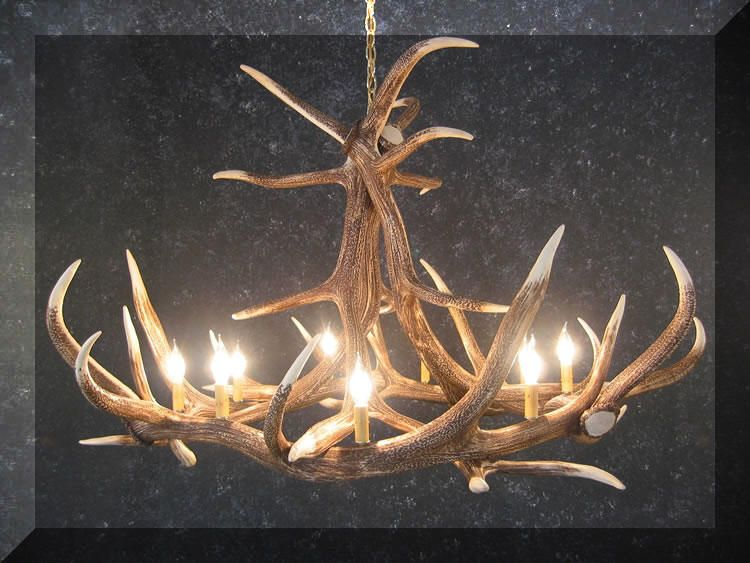 CHDE6 Faux Antler chandelier | Antler chandelier, Antler ...