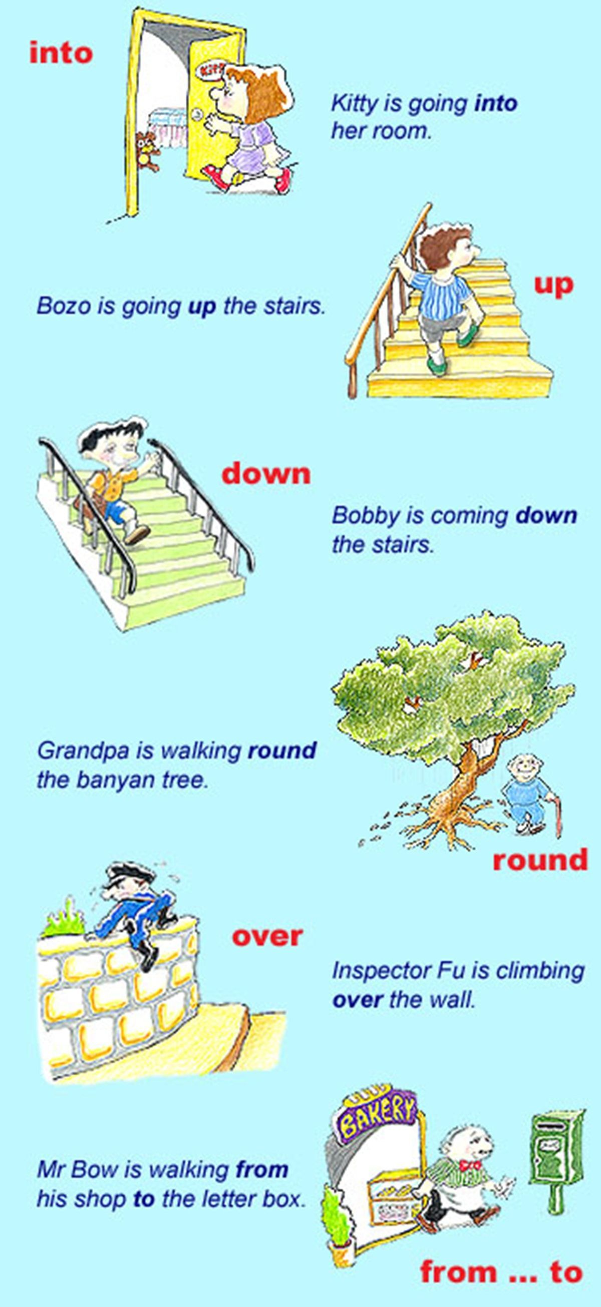 Prepositions Of Place Amp Movement