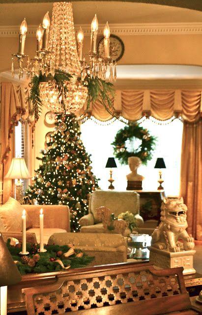Beaux Mondes Designs Green,Gold  Sliver Christmas Joyeux Noël - southern living christmas decorations