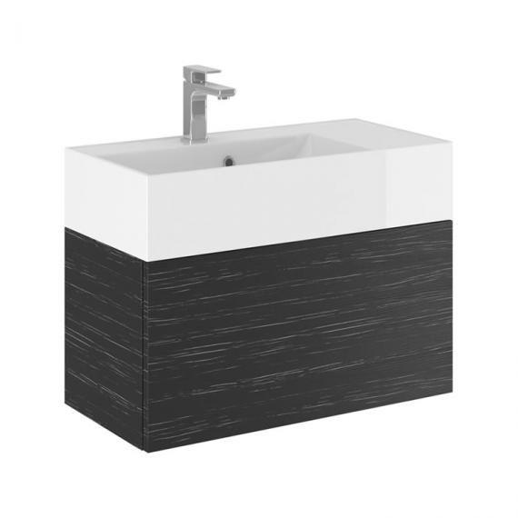 Bauhaus Elite 70 Graphite Wood Vanity Unit & Basin Image 1