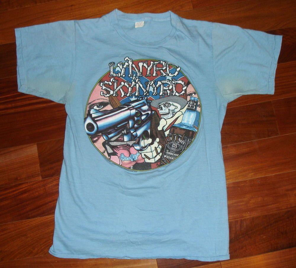 168b4f9f6 RaRe *1979 LYNYRD SKYNYRD* vintage rock concert tour t-shirt (M) 70s Band # TShirt