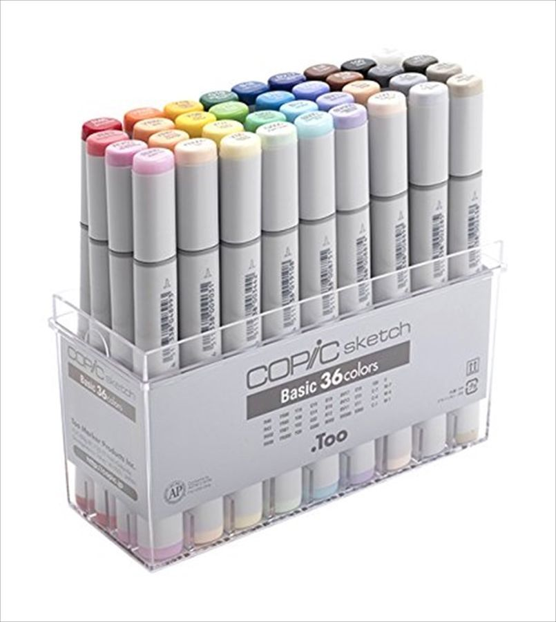 Too Copic Sketch Basically 36 Colors Marker Set For Manga Anime With Tracking Colors Basically Copic Copic Sketch Markers Artist Markers Copic Sketch