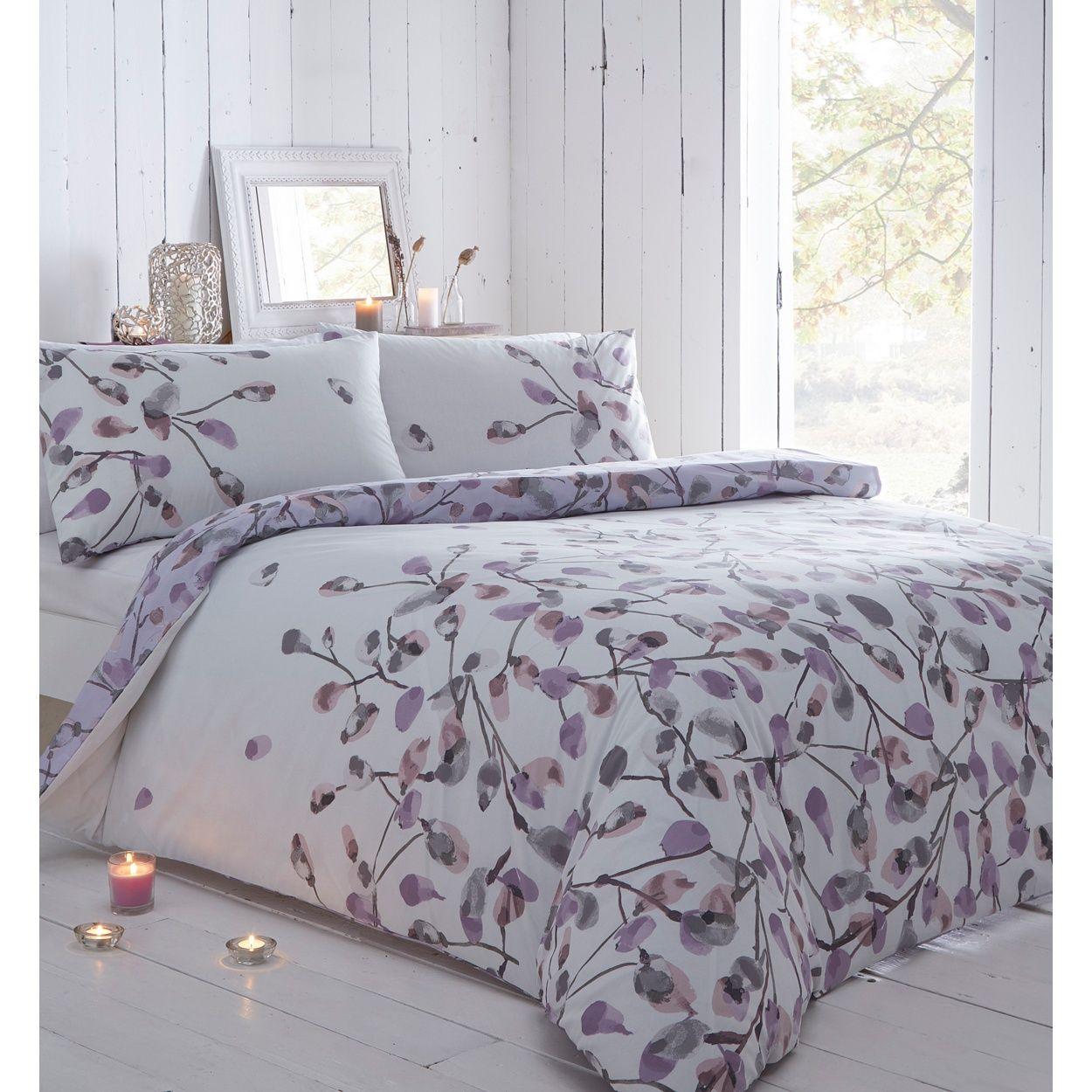 Rjr John Rocha Designer Lilac Floral Bedding Set Floral Bedding Sets Floral Bedding Vintage Bedding Set