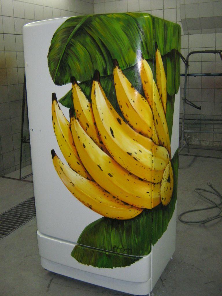 geladeira bananas GE antiga