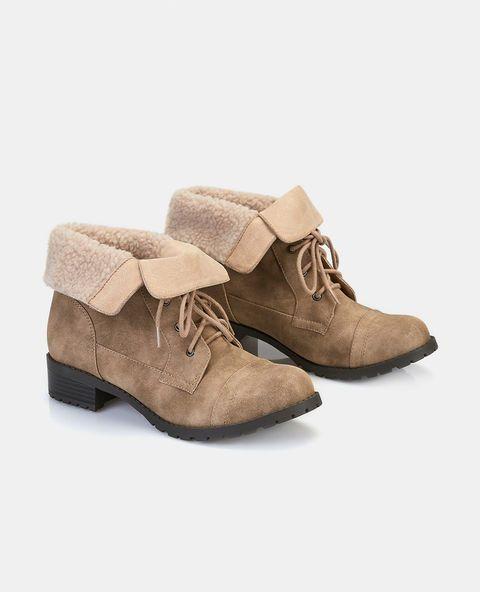 "<p>The perfect pair of outdoor boots! Features include a vegan leather upper, a sherpa lined interior, a lace-up front with metal eyelets, and a short heel.</p>  <ul> <li>6"" Shaft</li> <li>1.5"" Heel</li> <li>Lace-Up Closure</li> <li>Lightly Padded Footbed</li> <li>Tread Sole</li> <li>Man Made Materials / Metal</li> <li>Imported</li> </ul>"