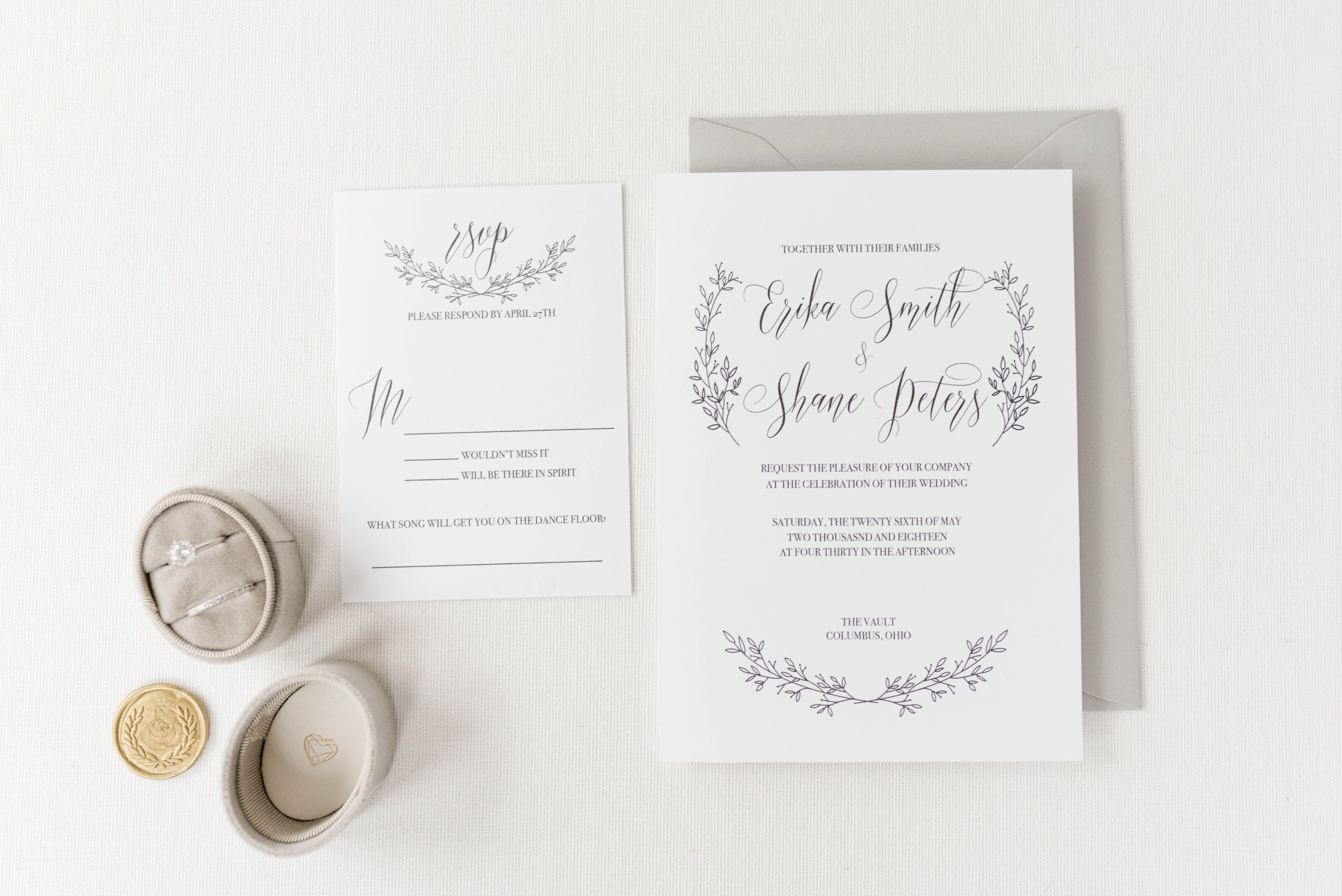 Semi-Custom wedding invitation suite from The Columbus Calligrapher ...