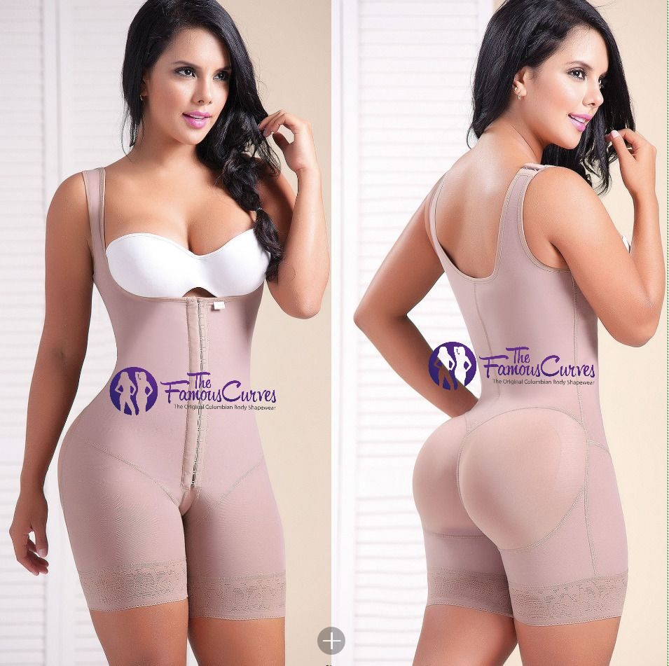 Fajas Colombianas Reductoras Levanta Cola Slimming 3-Hooks Post-Surgical Girdle