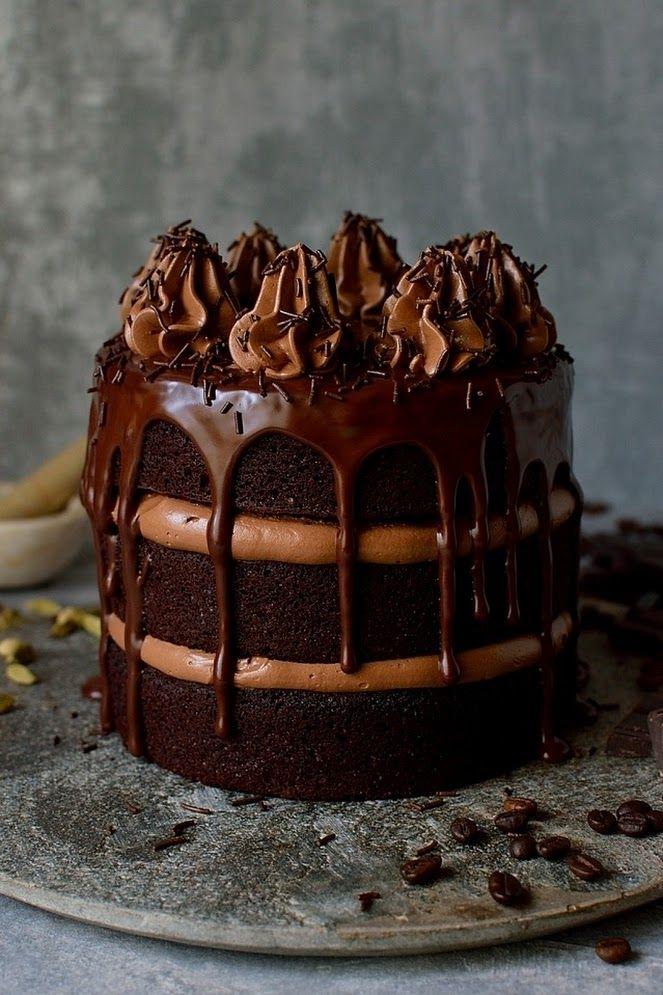 Cardamom Cake with Rosewater Whipped Cream - Kiku Corner