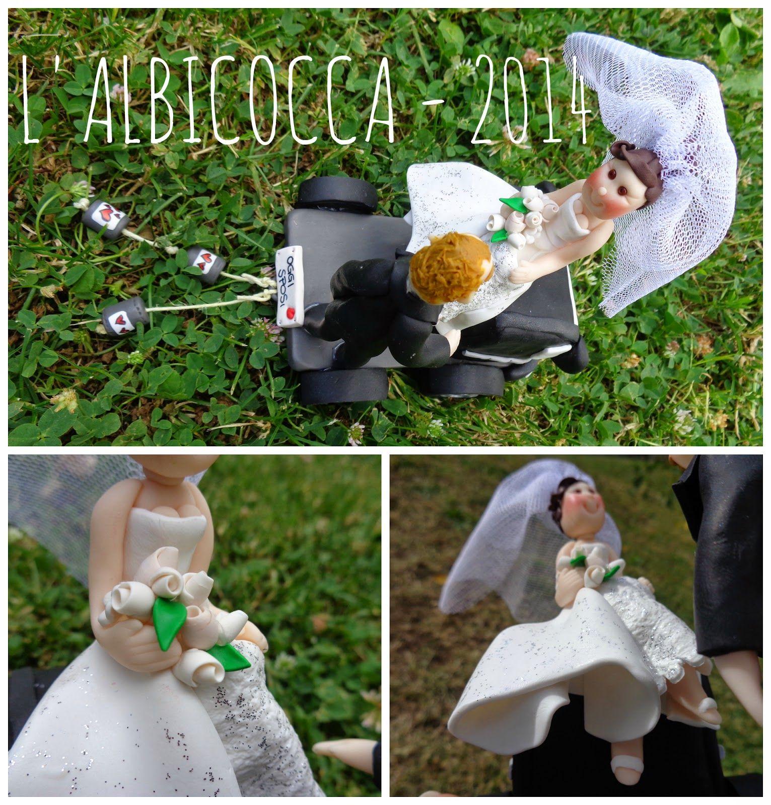 Sopratorta per matrimonio (Wedding cake topper) con camion...