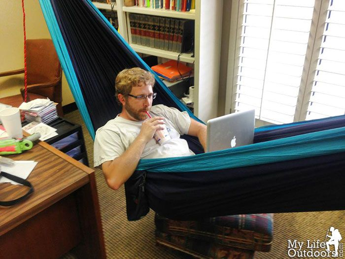 Double Hammock, Hammocks, Offices, Bureaus, Hammock, Desks, Office Spaces,  The Office, Corporate Offices