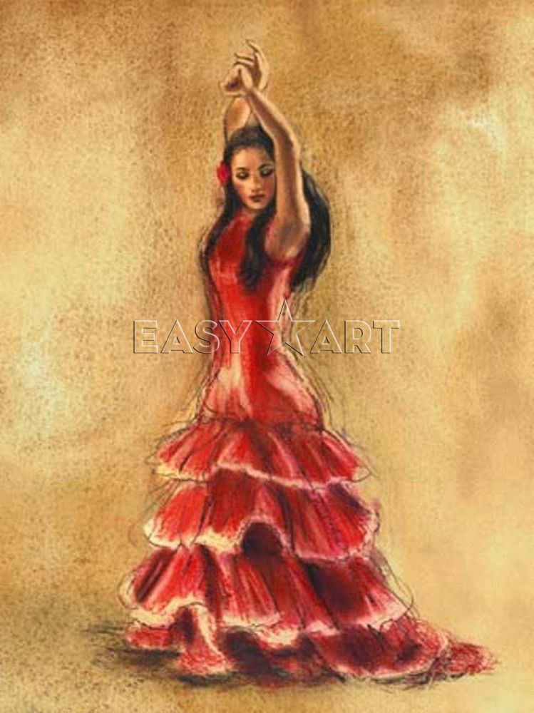 Old dancing girl chiquita flamenco dance copa cabana doll - Dessin danseuse de flamenco ...