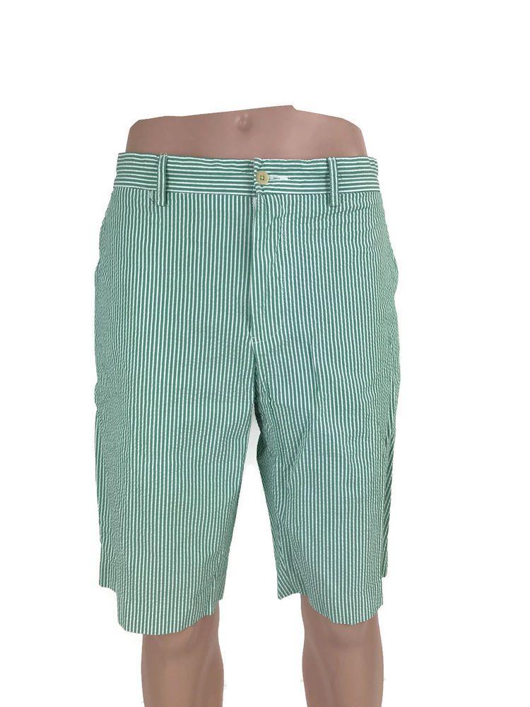 Polo Ralph Lauren Men S Classic Preppy Green White Striped