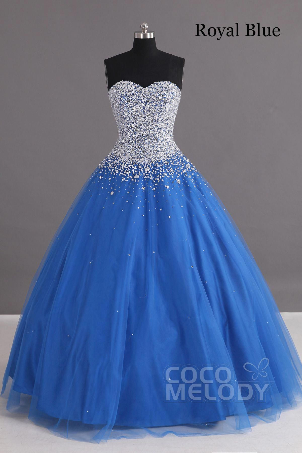 3049fab0c5 Charming Ball Gown Sweetheart Floor Length Tulle Lace-up Corset Quinceanera  Dress with Crystals COLF1400F  beautifulquinceaneradresses