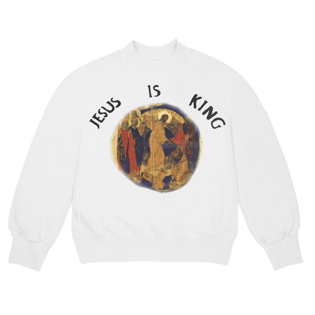 Jesus Is King Painting Crewneck Ii Kanye West Mens Casual Outfits Kanye West Adidas King Outfit