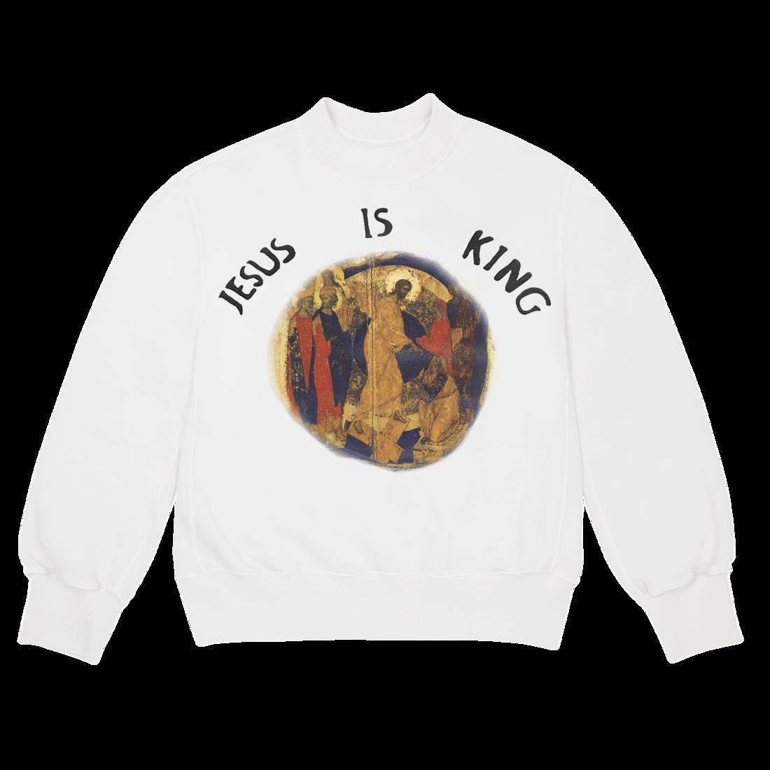 Jesus Is King Painting Crewneck Ii Kanye West King Outfit Kanye West Adidas Jesus Is King Kanye