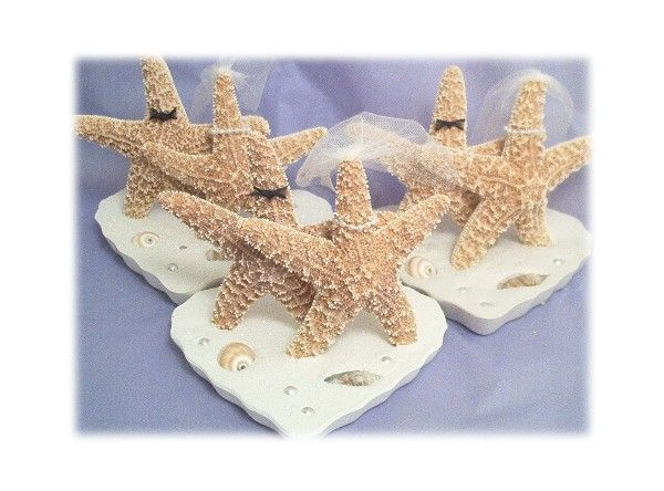 Beach Wedding Cake Topper Starfish Toppers Seashell Accessories Island Destination Theme Accessory Garter Guestbook Ring