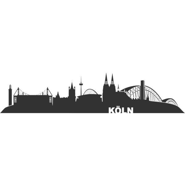 Background Cologne Skyline Liked On Polyvore Skyline Koln Skyline Plotterdatei