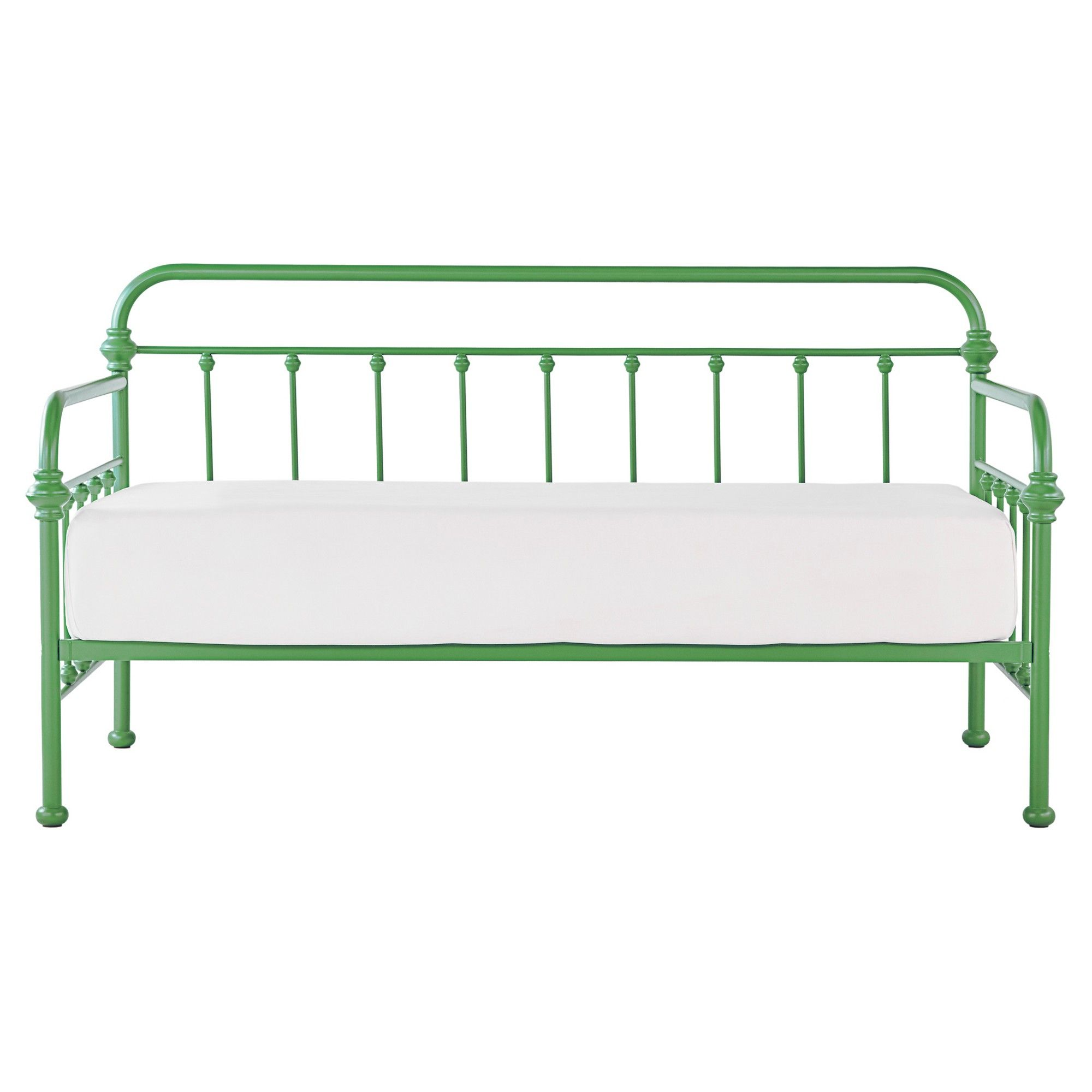 Tilden Ii Vintage Metal Daybed - Twin - Spring Green - Inspire Q, Silver  Putty