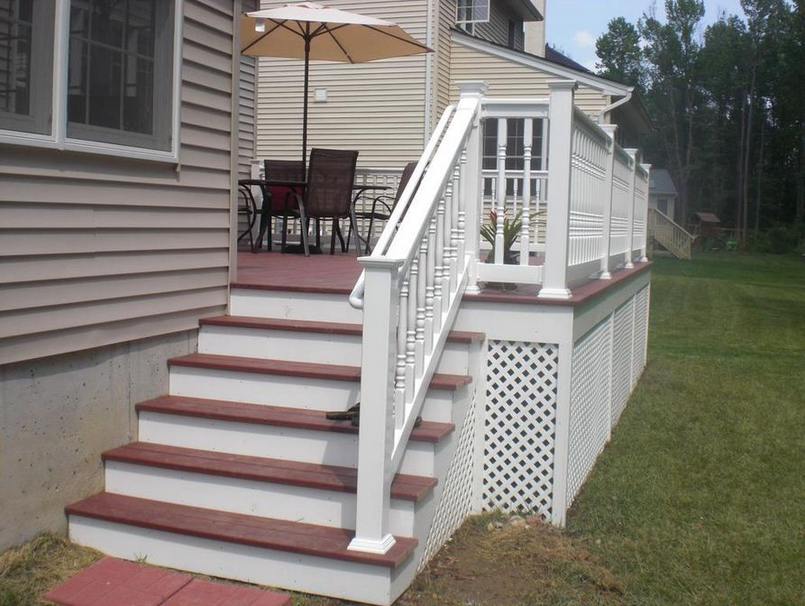 Mobile Home Steps and Decks attic stairs home depot