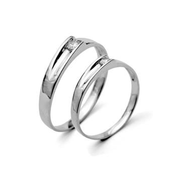 FASHION SILVER COUPLES RINGS 220080